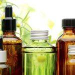 Botellas de aceites esenciales