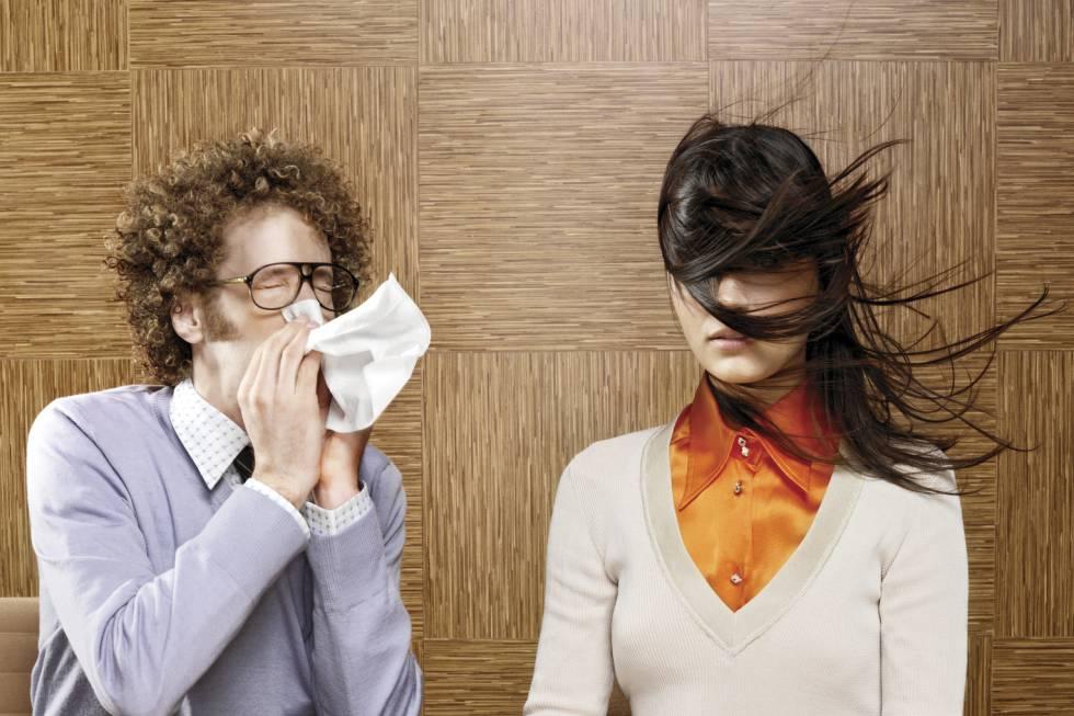 Chicos con síntomas de gripe