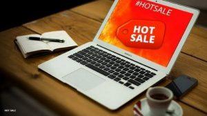 Computadora con logo de Hot Sale