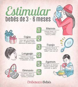 Cómo estimular a un bebé de 3 a 6 meses