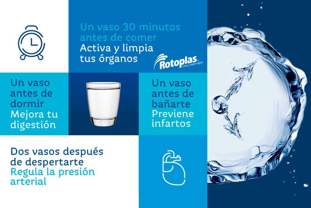 bebe agua para una vida saludable
