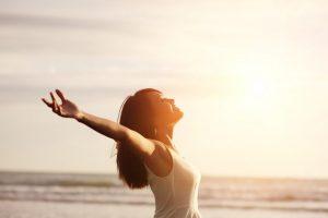 Mujer con salud y felicidad