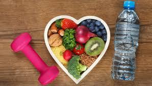 Comida y ejercicio para cuidar el corazón.