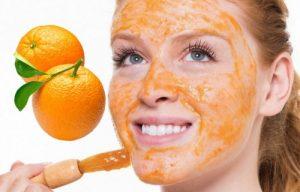 para que sirve la mascarilla de naranja