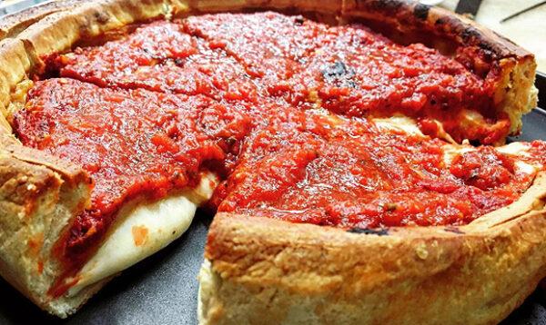 pizza estilo de Chicago