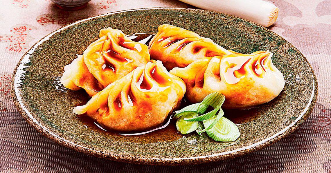 Deliciosos Jiaozi con soya