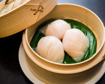 dumplings en cesto de bambú