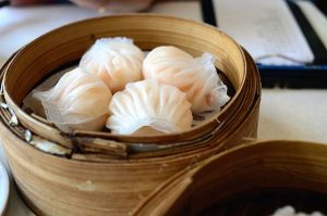istockphoto 528795037 612x612 1 300x199 - Chinese dim sum Hagao in bamboo basket